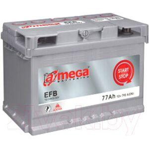 Автомобильный аккумулятор A-mega EFB 77.0 R+