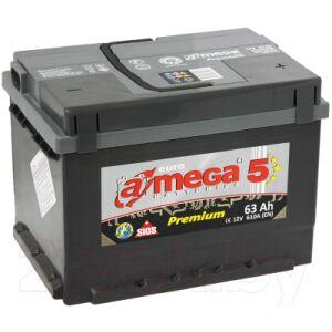 Автомобильный аккумулятор A-mega Premium 63 R low / AP 63.0