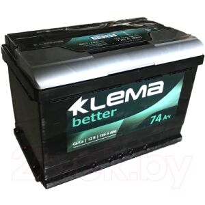 Автомобильный аккумулятор Klema Better 6CT-74 АзЕ