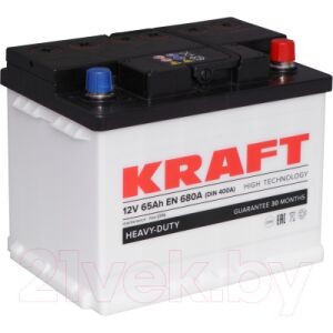 Автомобильный аккумулятор KrafT 65 R / KR65.0