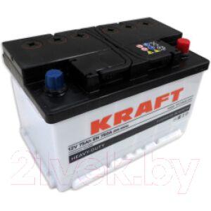 Автомобильный аккумулятор KrafT 75 R низкий