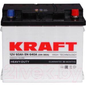 Автомобильный аккумулятор KrafT R 60