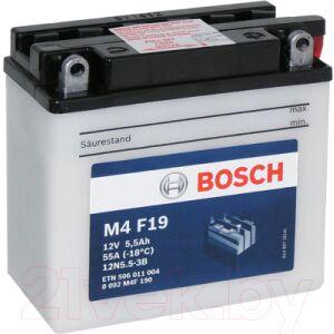 Мотоаккумулятор Bosch M4F 12N5.5-3B / 0092M4F190