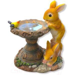 Садовая фигура-светильник Чудесный Сад 422 Любопытные зайчата
